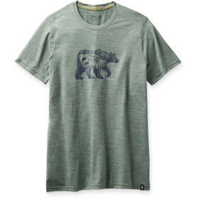 Smartwool Merino Sport 150 Shirt Bear Camp Graphic Men, sage heather